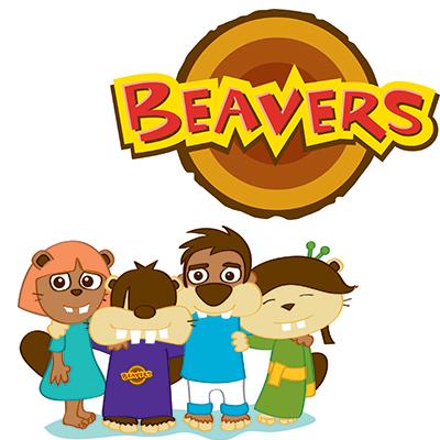 Beavers logo and group