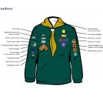 Cub badges postition on uniform